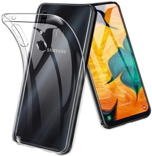 Clear Samsung Galaxy A20 / A30 Shock-Absorption Ultra Slim Gel Case - 1