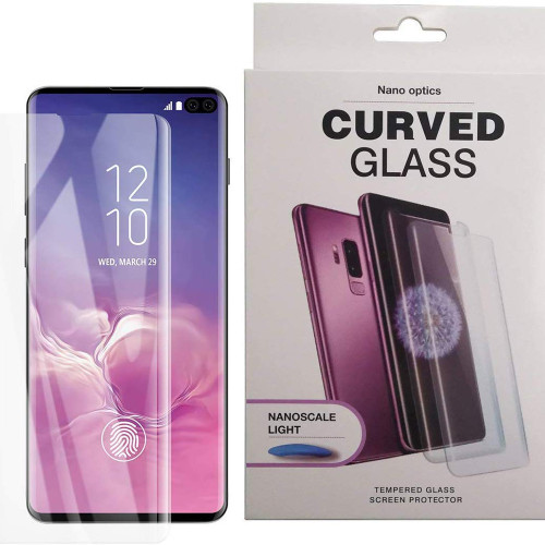 Galaxy S10+ Plus Liquid Nano UV Light Tempered Glass Screen Protector - 1