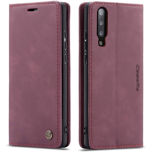 Classy Wine CaseMe Compact Flip Wallet Card Case For Galaxy A50 - 1