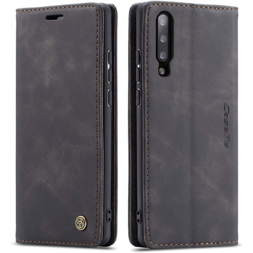 Black Galaxy A70 CaseMe Premium Compact Flip Wallet Card Case - 1