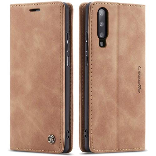 Vintage Brown Galaxy A70 CaseMe Premium Compact Flip Wallet Case - 1