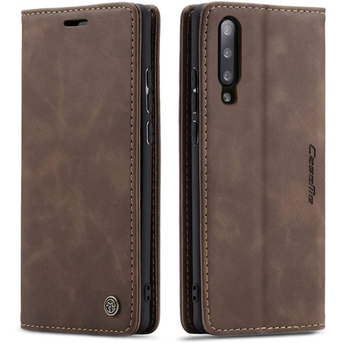 Stylish Coffee CaseMe Compact Flip Wallet Case For Samsung Galaxy A70 - 1