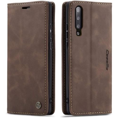 Stylish Coffee CaseMe Compact Flip Wallet Case For Samsung Galaxy A70 - 1