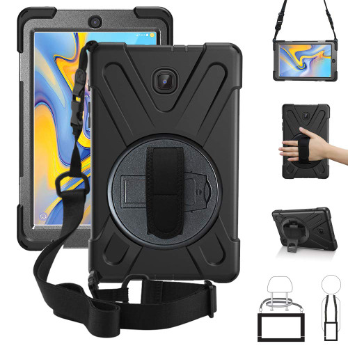 Galaxy Tab A 8.0 2017 Shock Proof Tough Armor Shoulder Strap Case - 1