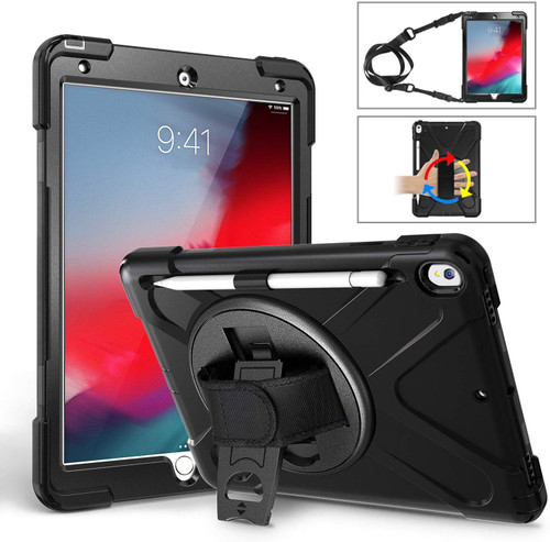 "Apple iPad Air 3 10.5"" 2019 Shock Proof Armor Shoulder Strap Case - 1"
