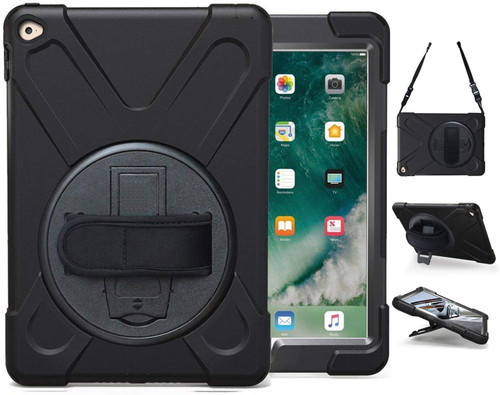 Apple iPad Air 2 Shock Proof Armor Defender Shoulder Strap Case - 1