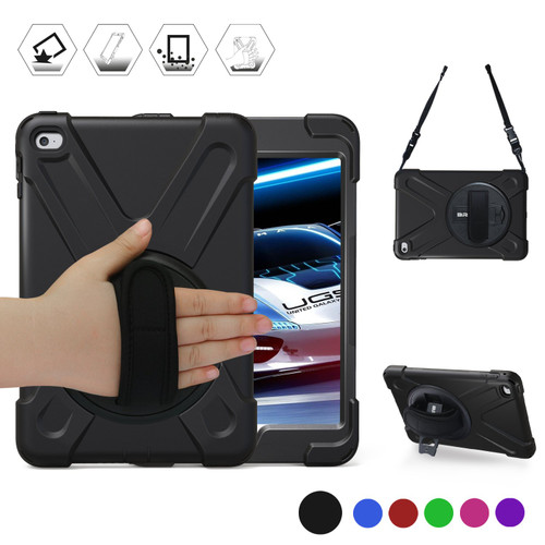 Apple iPad Mini 4 / 5 Shock Proof Tough Defender Shoulder Strap Case - 1