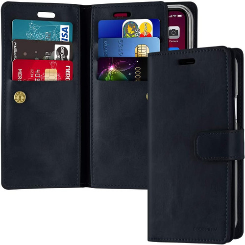 Navy iPhone 11 Pro Genuine Mercury Mansoor Diary Wallet Case - 1