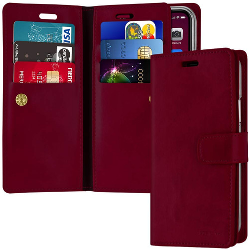 Classy Wine Mercury Mansoor Diary Wallet Case For  iPhone 11 Pro MAX - 1