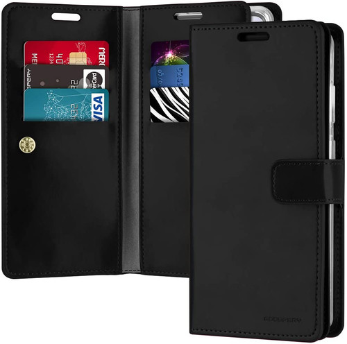 Black Galaxy S20 Genuine Mercury Mansoor Wallet Case Cover - 1