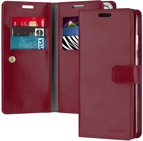 Classy Wine Galaxy S20 Genuine Mercury Mansoor Wallet  Card Case - 1