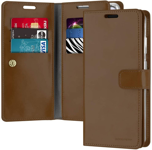 Brown Galaxy S20+ / S20+ 5G Genuine Mercury Mansoor Wallet Case - 1