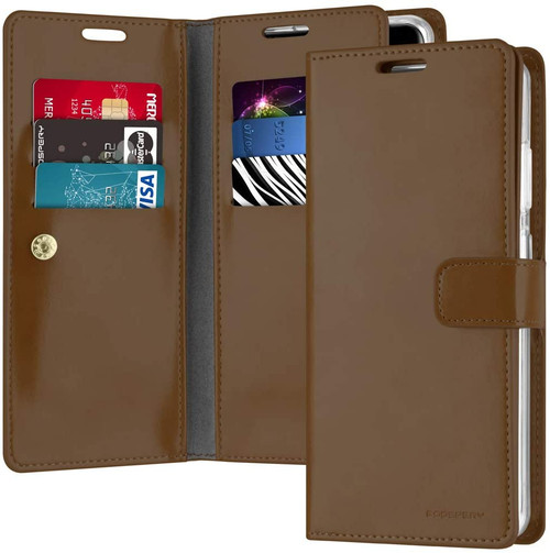 Brown Galaxy S20 Ultra Genuine Mercury Mansoor Wallet Card Case - 1