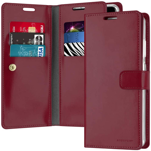 Classy Wine Galaxy S20 Ultra Genuine Mercury Mansoor Wallet Case - 1