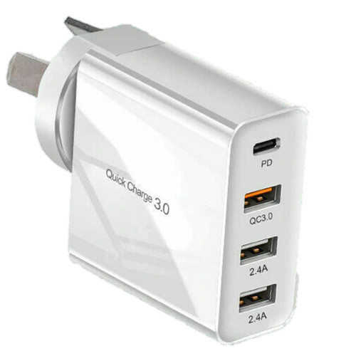 Qualcomm QC3.0 48W PD Fast Charging Multi Port USB Wall Charger - 1