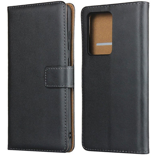 Black Genuine Leather Smart Wallet Case For Samsung Galaxy S20 Ultra - 1