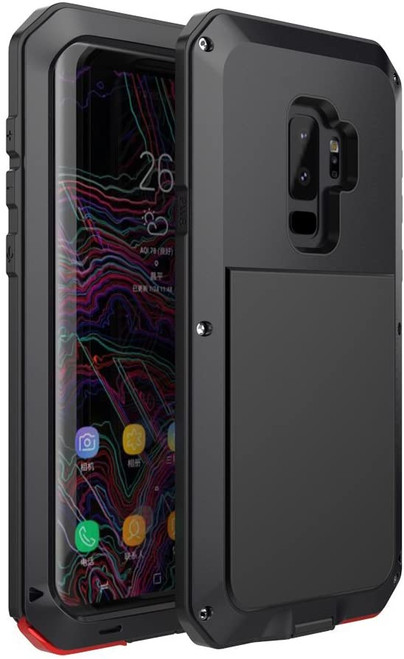 Samsung Galaxy S9 Black Metal Heavy Duty Shockproof Case - 1