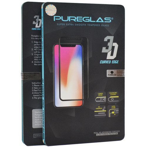 iPhone XS Max PUREGLAS Full Cover Tempered Glass Screen Protector - 1