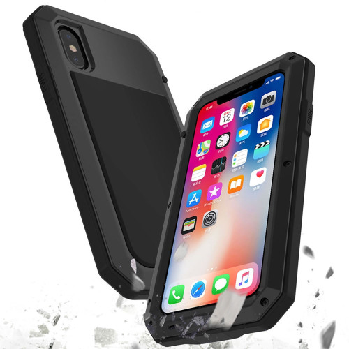 Apple iPhone XR Water Resistant Heavy Duty Full Body Metal Case - 1
