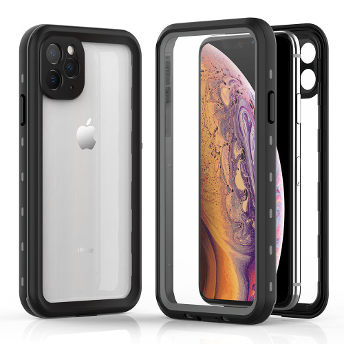 Black iPhone 11 Pro MAX Waterproof Dirtproof Shock Proof Case - 1