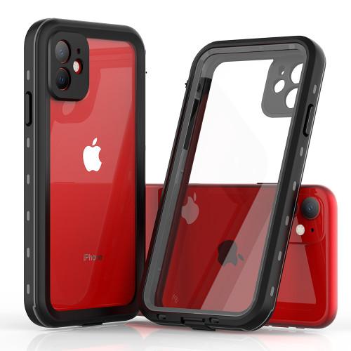 Black iPhone XR Waterproof Dirtproof Shock Proof Defender Case - 1