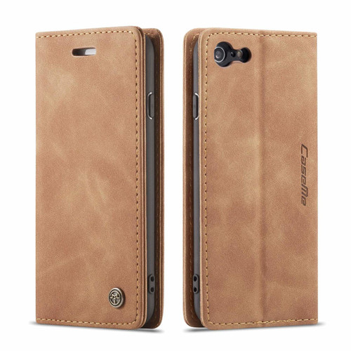 Brown iPhone 7 Plus / 8 Plus CaseMe Slim 2 Card Slot Wallet Case - 1