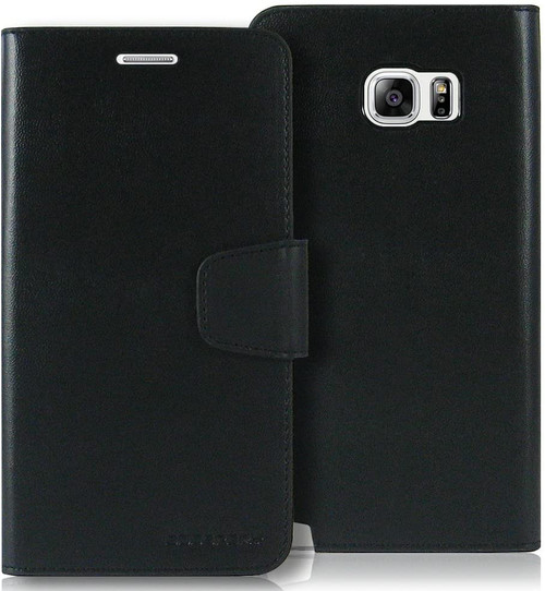 Black Galaxy Note 5 Mercury Sonata Diary Card Slots Wallet Case - 1