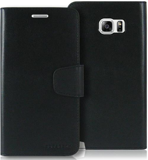 Black Galaxy Note 5 Mercury Sonata Diary Card Slots Wallet Case - 1