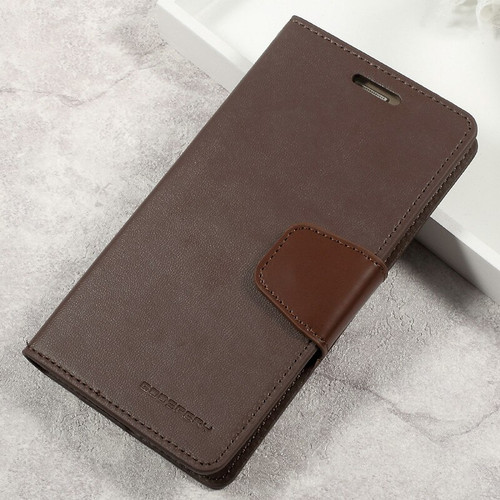 Brown Galaxy A5 (2017) Mercury Sonata Diary Card Slots Wallet Case - 1