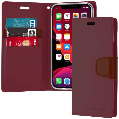 iPhone 11 Genuine Mercury Sonata Diary Wallet Case - Wine - 1