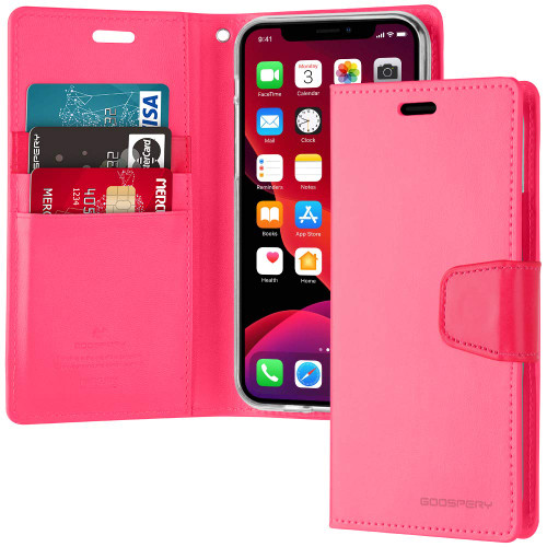 Fashionable Hot Pink iPhone 11 Mercury Sonata Diary Wallet Case - 1