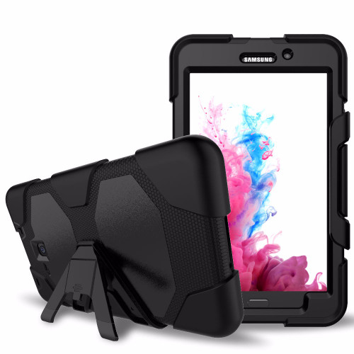 Black Military Armor Case for Samsung Galaxy Tab A 7.0 2016 T280, T285 - 1