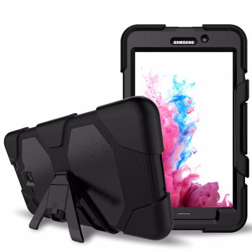 Black Military Armor Case for Samsung Galaxy Tab A 7.0 2016 T280, T285 - 1