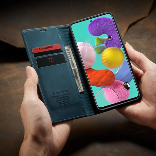 Blue Galaxy A11 CaseMe Compact Flip Soft Feel Wallet Case Cover - 1