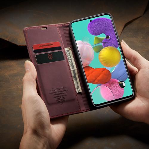 Classy Wine CaseMe Compact Flip Wallet Card Case For Galaxy A11 - 1