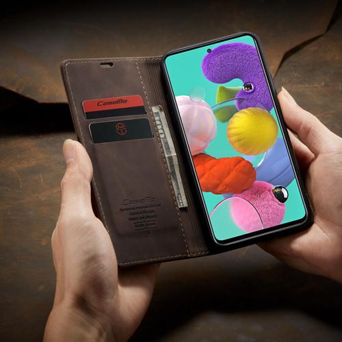 Coffee CaseMe Classy Compact Flip Wallet Card Case For Galaxy A11 - 1