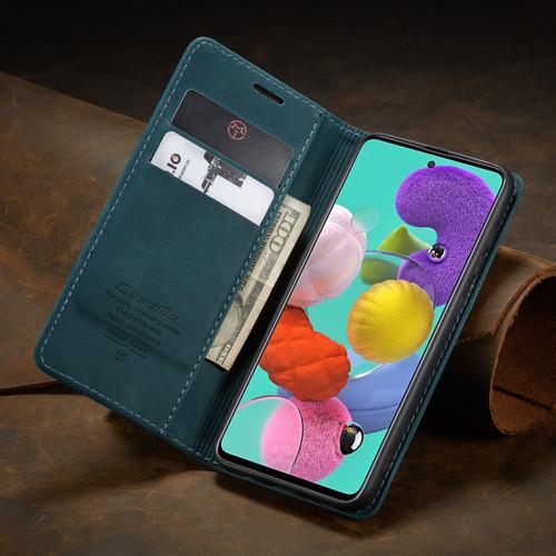 Blue Galaxy A71 CaseMe Compact Flip Soft Feel Wallet Case Cover