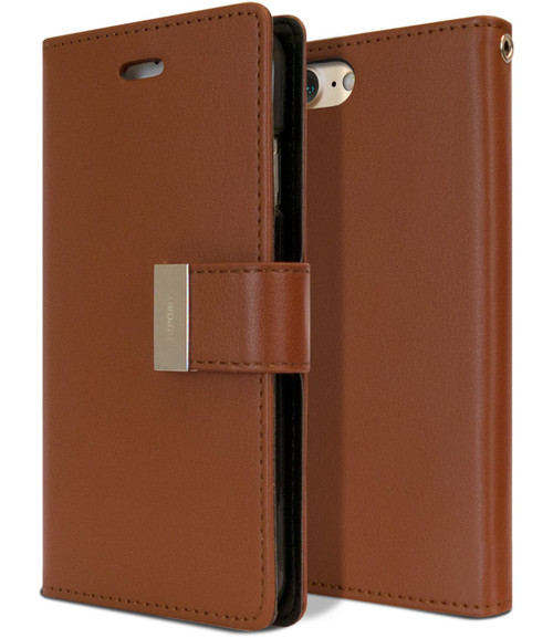 Vintage Brown Genuine Mercury Rich Diary Wallet Case For iPhone SE 2020 - 1