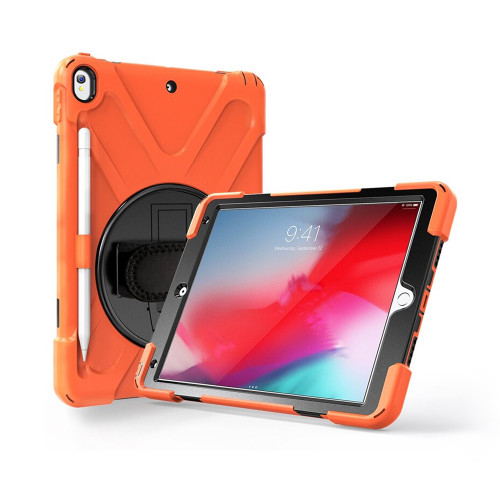 "Orange Apple iPad Air 3 10.5"" 2019 Tough Armer Shoulder Strap Case - 1"
