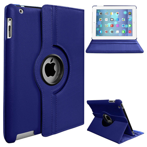"Blue iPad Air 3 10.5"" 2019 360 Degree Rotating Synthetic Leather Case - 1"