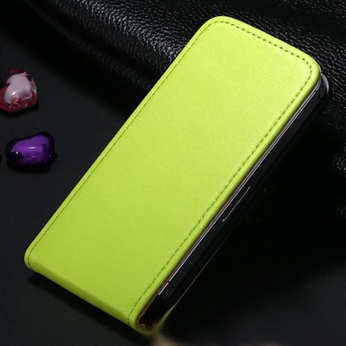 Green Leather Vertical Flip Case For Apple iPhone SE 1st Gen (2016) - 1