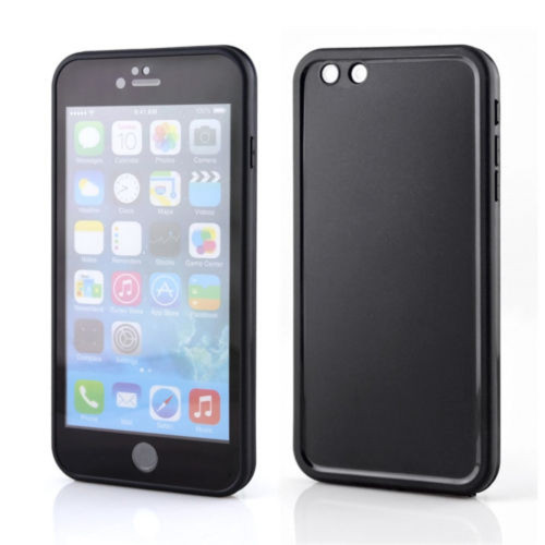 Black iPhone SE 1st Gen (2016) Shockproof Full Body TPU Gel Case - 1