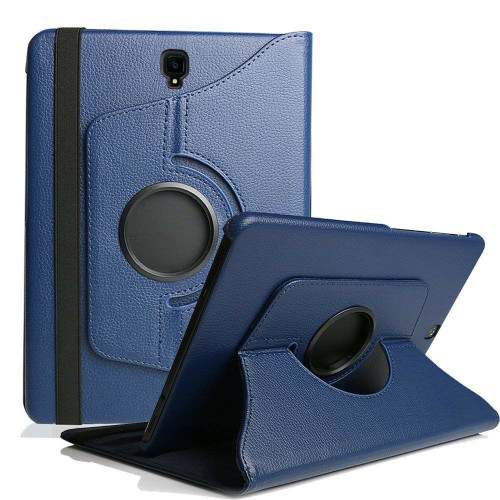 Navy Samsung Galaxy Tab S4 10.5 360 Rotating Sythetic Leather Case