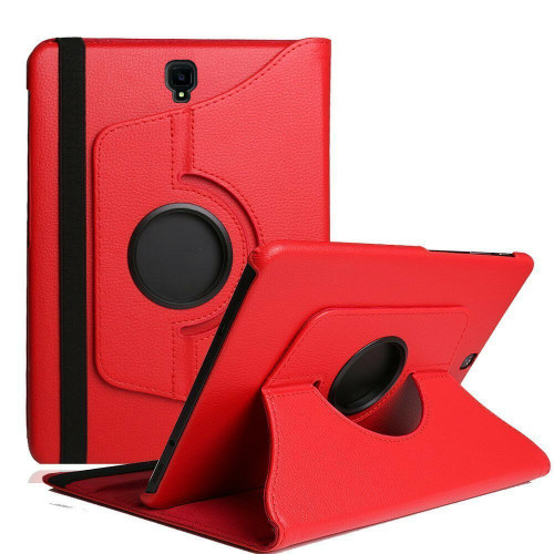 Red Samsung Galaxy Tab S4 10.5 360 Rotating Sythetic Leather Case