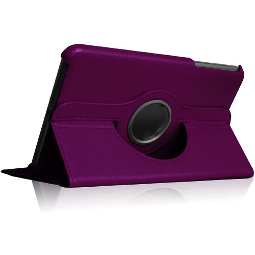 Purple Galaxy Tab A 8.0 Rotating Case Cover- Models (2015) T350 T355 - 1