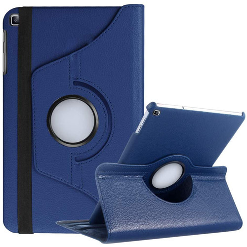 Navy Samsung Galaxy Tab S5e 10.5 Rotating 360 Synthetic Leather Case - 1