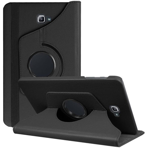 Black 360 Degree Rotating Folio Stand Case for Galaxy Tab A 10.1 (2016) - 1