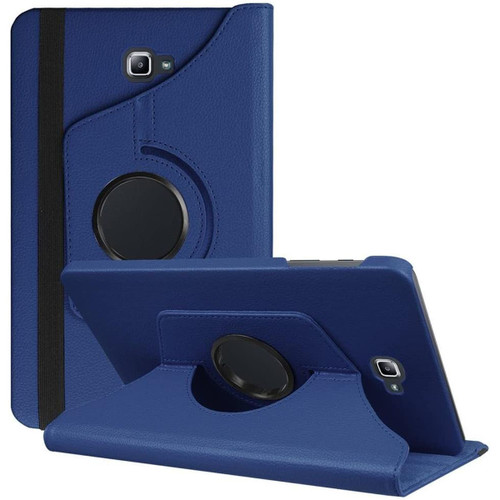 Navy Galaxy Tab A 10.1 (2016) 360 Degree Rotating Folio Stand Case - 1