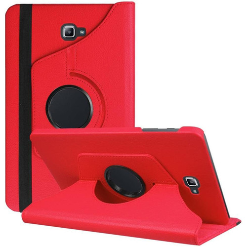 Red 360 Degree Rotating Folio Stand Case For Galaxy Tab A 10.1 (2016) - 1