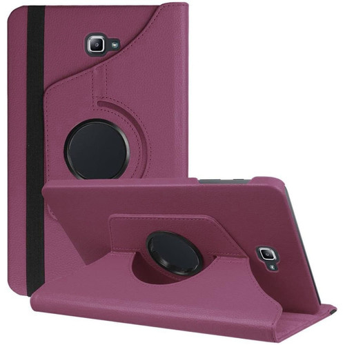 Purple Galaxy Tab A 10.1 (2016) Rotating Synthetic Leather Stand Case - 1